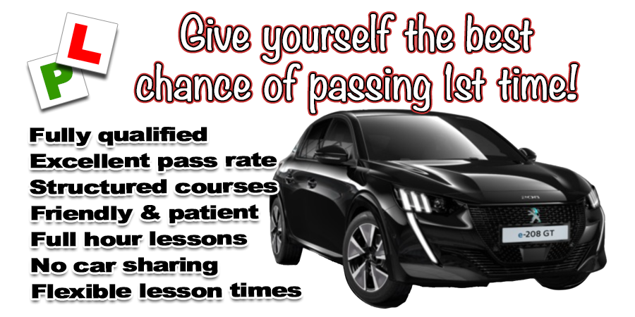 Pass faster, save time AND money by learning with a grade A instructor Leyburn & Wensleydale